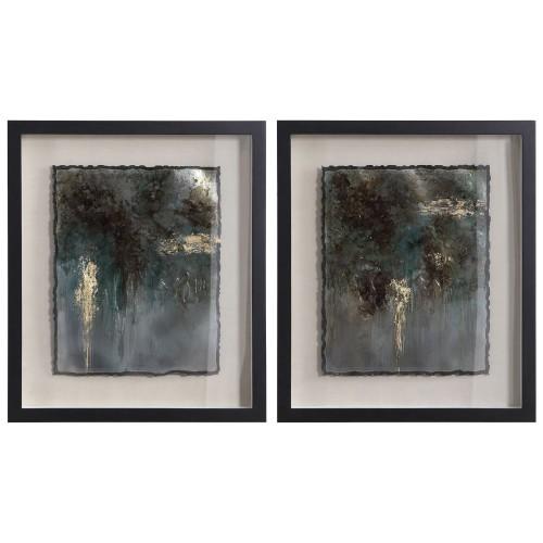 Rustic Patina Framed Prints - Set of 2