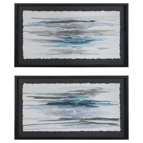 Washed Away Contemporary Prints - Set of 2