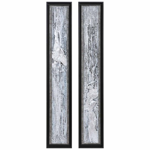 Silver Lining Textured Abstract Art - Set of 2
