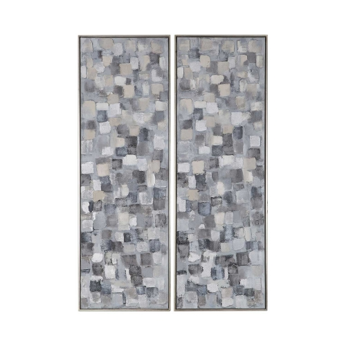Cubist Hand Painted Art - Set of 2