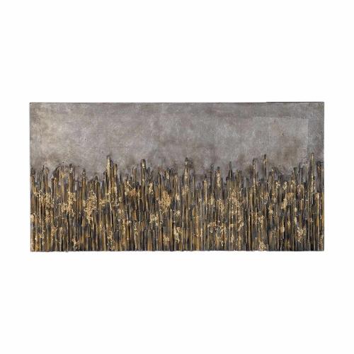 Golden Fields Metallic Art