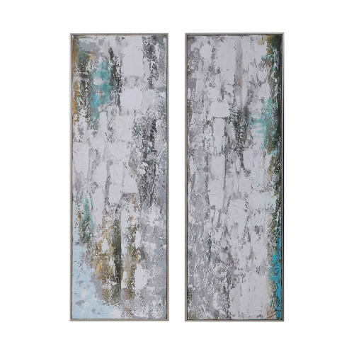Aged Fences Abstract Art - Set of 2
