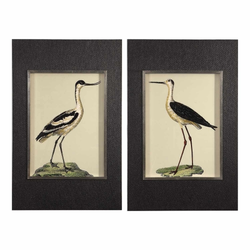 Birds On The Shore Prints - Set of 2