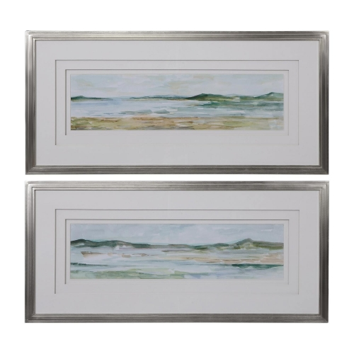 Panoramic Seascape Framed Prints - Set of 2