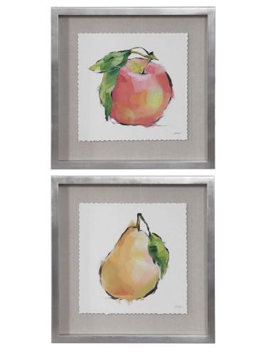 Designer Fruits Framed Prints - Set of 2