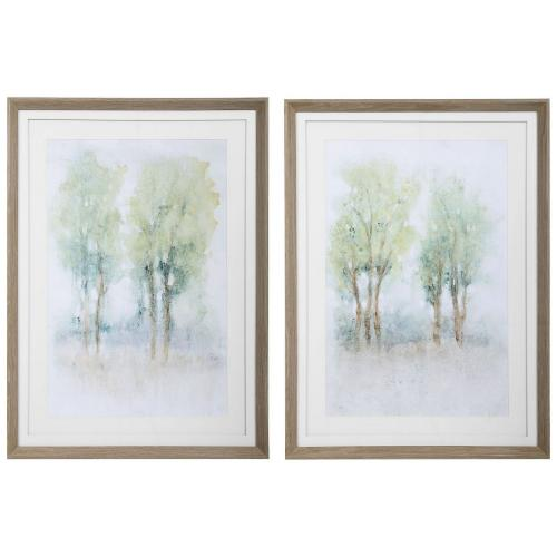 Meadow View Framed Prints - Set of 2
