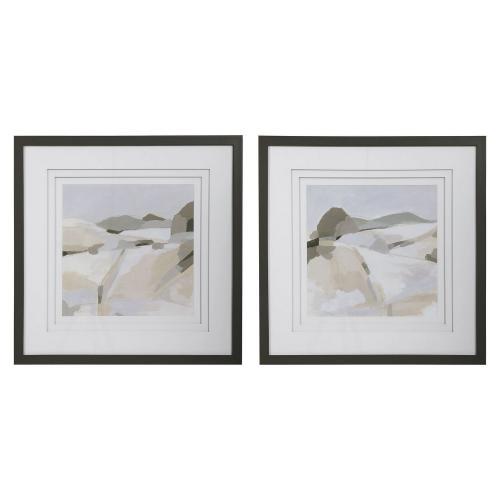 Western Landscape Modern Prints - Set of 2