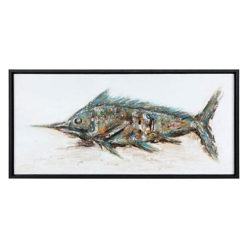 Marlin Hand Painted Art - Blue