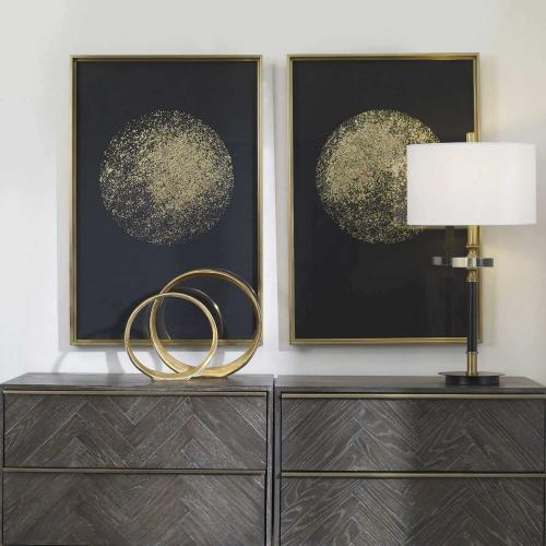 Gold Rondure Framed Prints - Set of 2