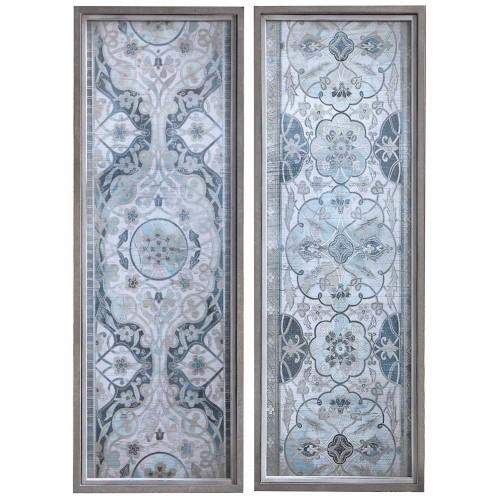 Vintage Persian Panels Framed Prints - Set of 2