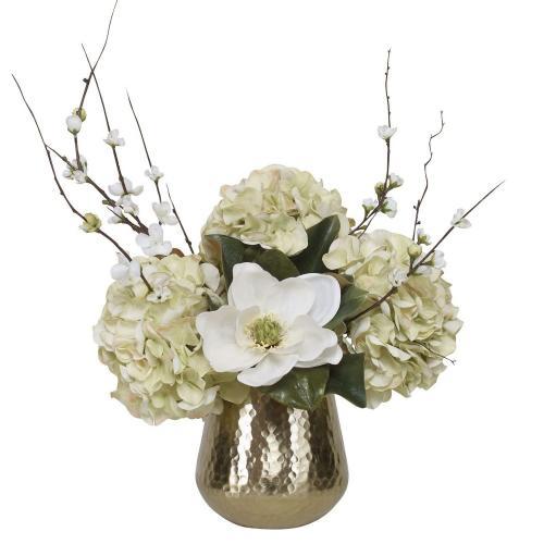 Seabrook Floral Bouquet Vase - Gold