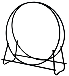 Black 40 Inch Diameter Log Hoop-Uniflame