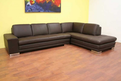 Callidora Leather Sectional Sofa