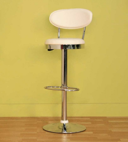 Achilla White Bar Stool