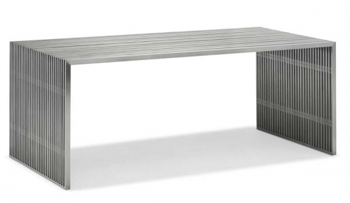 Novel Dining Table - Stainless Steel