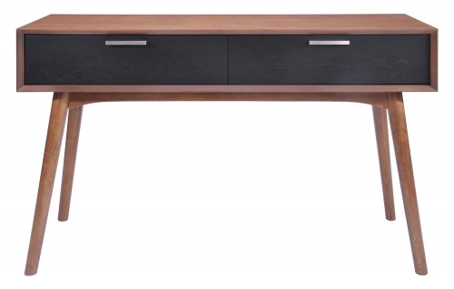 Liberty City Console Table - Walnut/Black