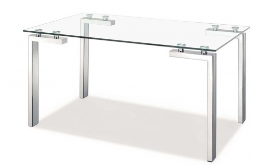 Roca Dining Table - Stainless Steel