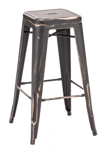 Marius Barstool - Antique Black Gold