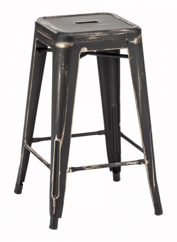 Marius Counter Stool - Antique Black Gold