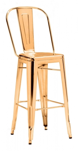 Elio Bar Chair - Gold