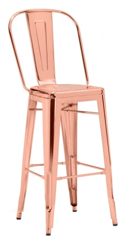 Elio Bar Chair - Rose Gold