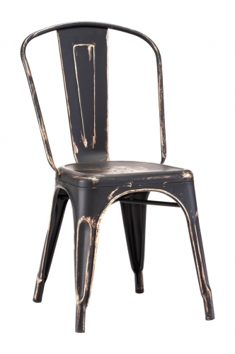 Elio Dining Chair - Antique Black Gold