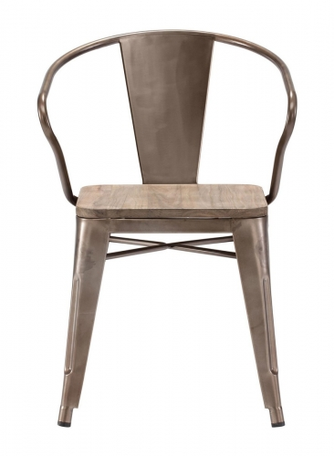 Helix Dining Chair - Rustic Wood
