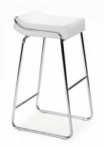 Wedge Barstool - White