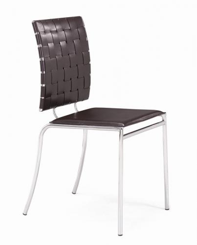 Zuo Modern Criss Cross Dining Chair - Espresso