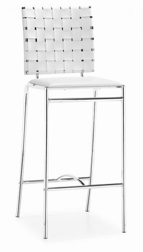 Zuo Modern Criss Cross Counter Chair - White