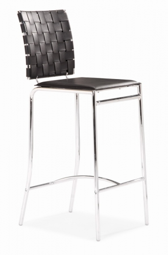 Criss Cross Counter Chair - Black