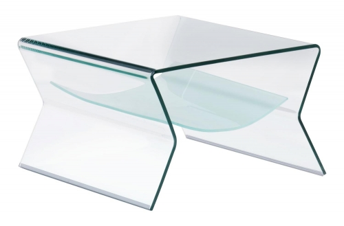 Yoga Side Table - Clear/Frosted
