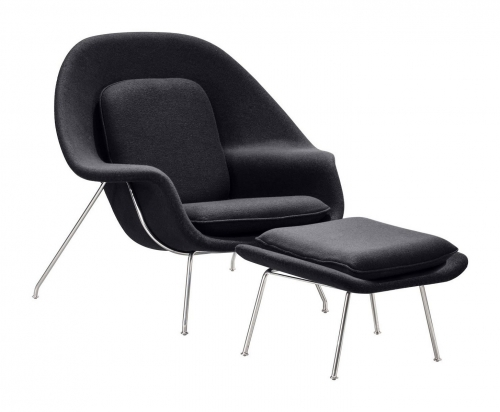 Nursery Occasional Chair & Ottoman - Light Gray