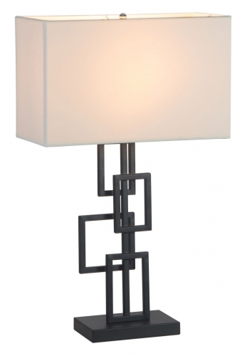 Step Table Lamp - White/Black