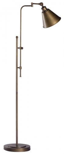 Rush Floor Lamp - Brushed Bronze