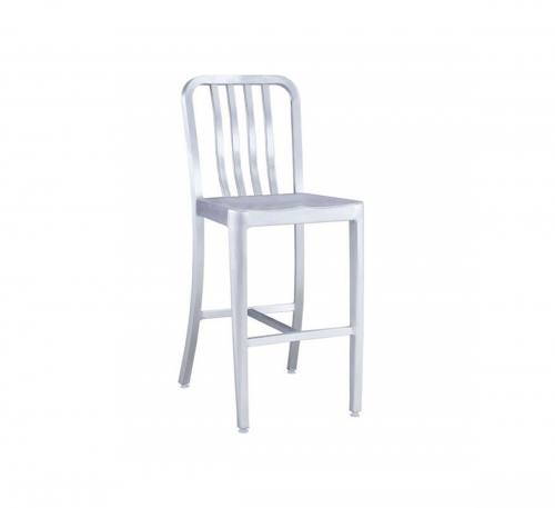 Gastro Counter Chair - Brushed Aluminum
