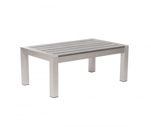 Cosmopolitan Coffee Table - Brushed Aluminum