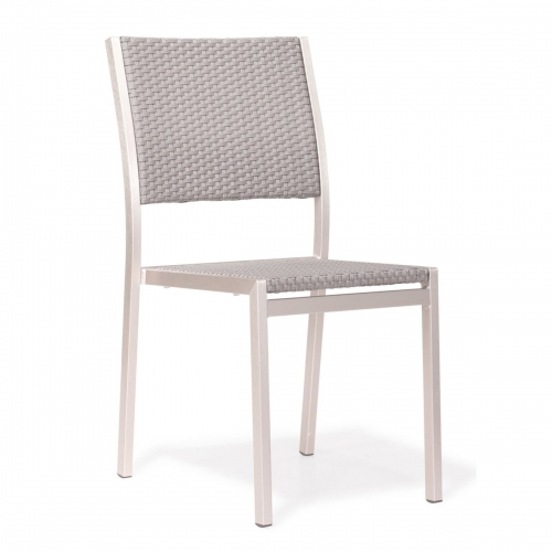 Metropolitan Dining Armless Chair - Brushed Aluminum