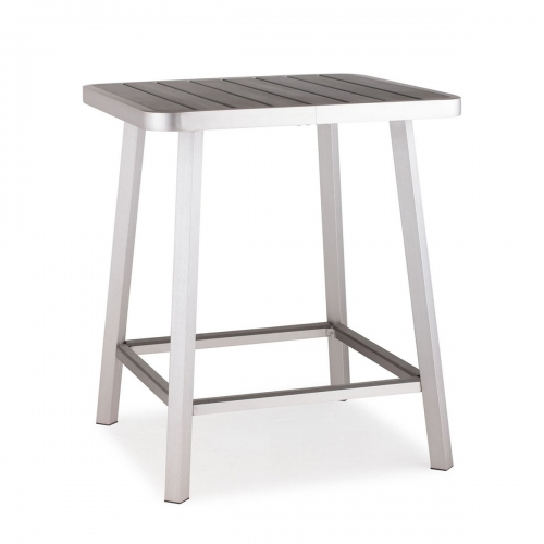 Megapolis Bar Table - Brushed Aluminum