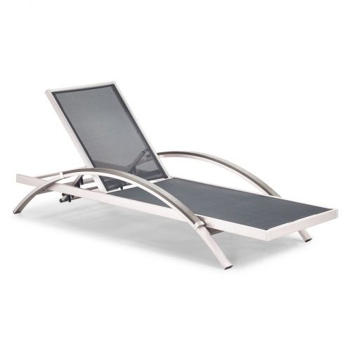 Metropolitan Chaise Lounge - Brushed Aluminum
