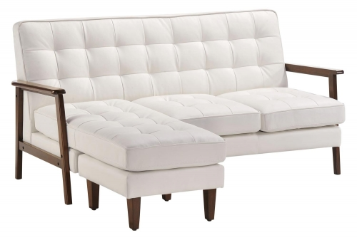 Soho Flat Flex Sectional - White