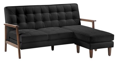 Soho Flat Flex Sectional - Black