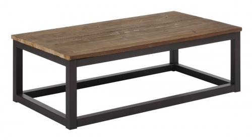 Civic Center Rectangular Coffee Table - Distressed Natural