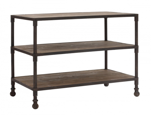 Mission Bay Wide 3 level Shelf - Distressed Natural