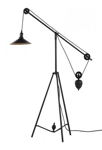 Jasper Floor Lamp - Antique Black Gold