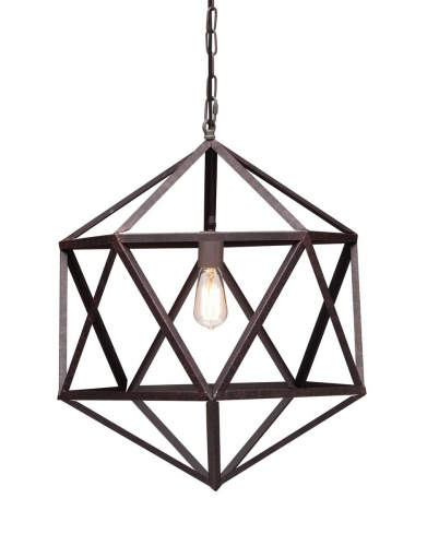 Amethyst Ceiling Lamp Small - Rust