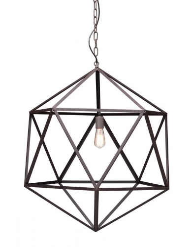 Amethyst Ceiling Lamp Large - Rust