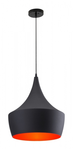 Copper Ceiling Lamp - Matte Black