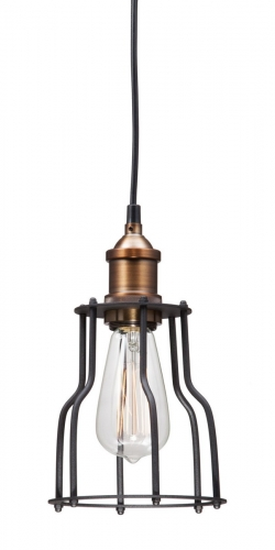 Aragonite Ceiling Lamp - Black/Copper