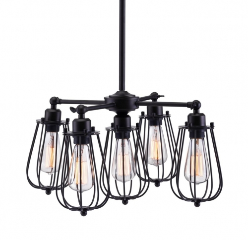 Porirua Ceiling Lamp - Distressed Black